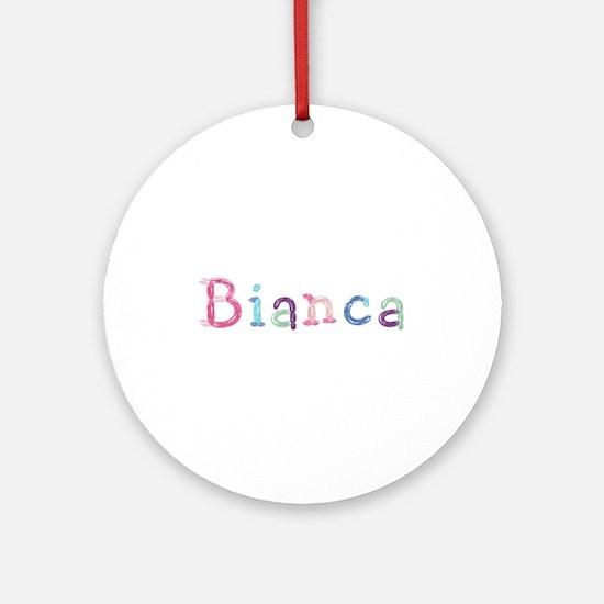 Bianca Princess Balloons Round Ornament