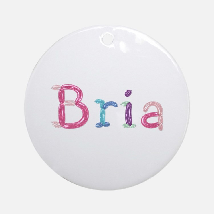 Bria Princess Balloons Round Ornament