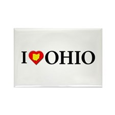I love Ohio Rectangle Magnet