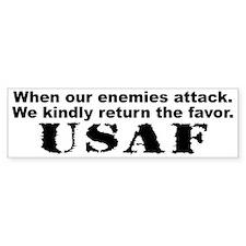 When our enemies attack Bumper Bumper Sticker