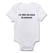 I'm w/ the marching band Infant Bodysuit