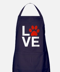 Love Dogs / Cats Pawprints Apron (dark)