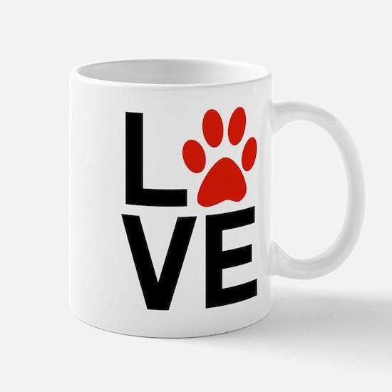 Love Dogs / Cats Pawprints Mug