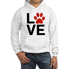 Love Dogs / Cats Pawprints Hoodie