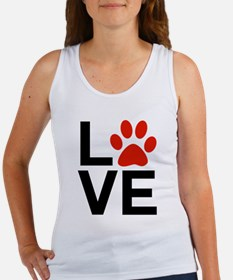 Love Dogs / Cats Pawprints Women's Tank Top