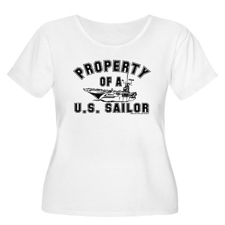 Property of a U.S. Sailor Women's Plus Size Scoop