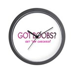 GOT BOOBS? Wall Clock