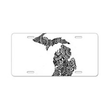 Unique Upper peninsula michigan Aluminum License Plate