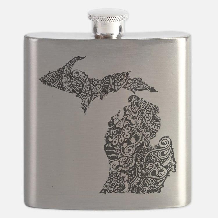 Cute Michigan Flask
