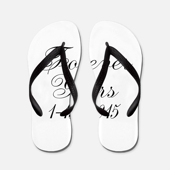 Forever Yours Personalizable Flip Flops