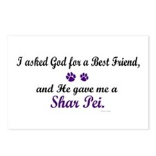 God Gave Me A Shar Pei Postcards (Package of 8)