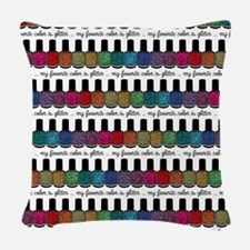 My Favorite Color Is Glitter 3 Woven Throw Pillow