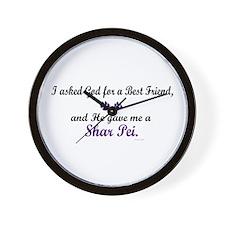 God Gave Me A Shar Pei Wall Clock