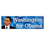 Washington for Obama bumper sticker