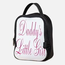 Daddys Little Girl Pink Large Script Neoprene Lunc