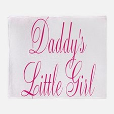 Daddys Little Girl Pink Large Script Throw Blanket