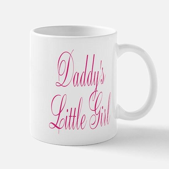 Daddys Little Girl Pink Large Script Mugs
