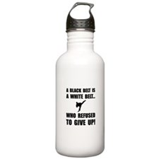 Black Belt Refusal Sports Water Bottle