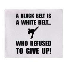 Black Belt Refusal Throw Blanket