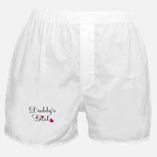 Daddys Girl Pink Hearts Boxer Shorts