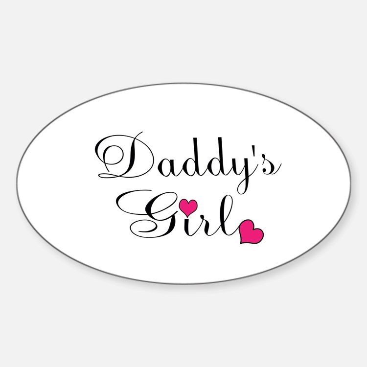 Daddys Girl Pink Hearts Decal