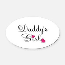 Daddys Girl Pink Hearts Oval Car Magnet