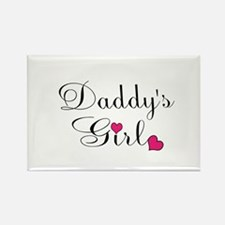 Daddys Girl Pink Hearts Magnets