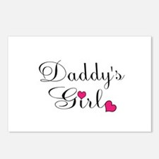 Daddys Girl Pink Hearts Postcards (Package of 8)