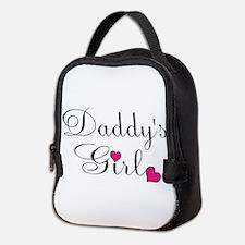 Daddys Girl Pink Hearts Neoprene Lunch Bag