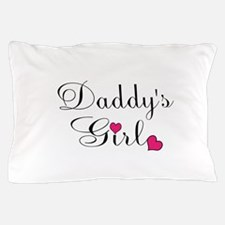 Daddys Girl Pink Hearts Pillow Case