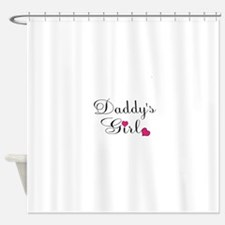 Daddys Girl Pink Hearts Shower Curtain