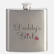 Daddys Girl Pink Hearts Flask