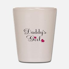 Daddys Girl Pink Hearts Shot Glass