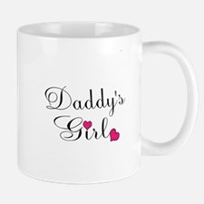 Daddys Girl Pink Hearts Mugs