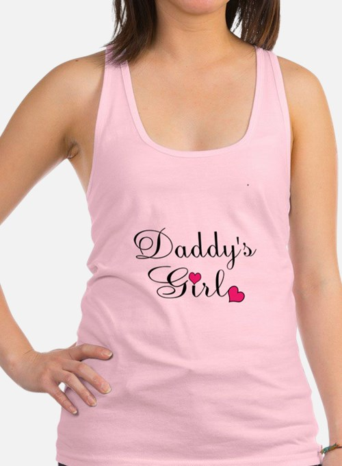 Daddys Girl Pink Hearts Racerback Tank Top
