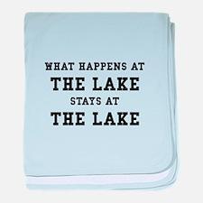 Happens At Lake baby blanket