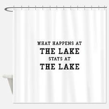 Happens At Lake Shower Curtain