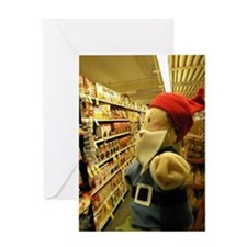 Grocery Gnome Greeting Card