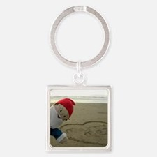 Marry Me Gnome Square Keychain