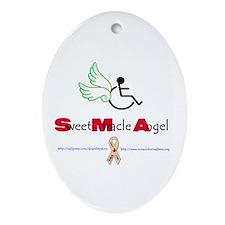 SMA Angel Oval Ornament