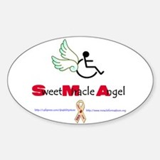 SMA Angel Oval Decal