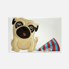Birthday Pug Rectangle Magnets