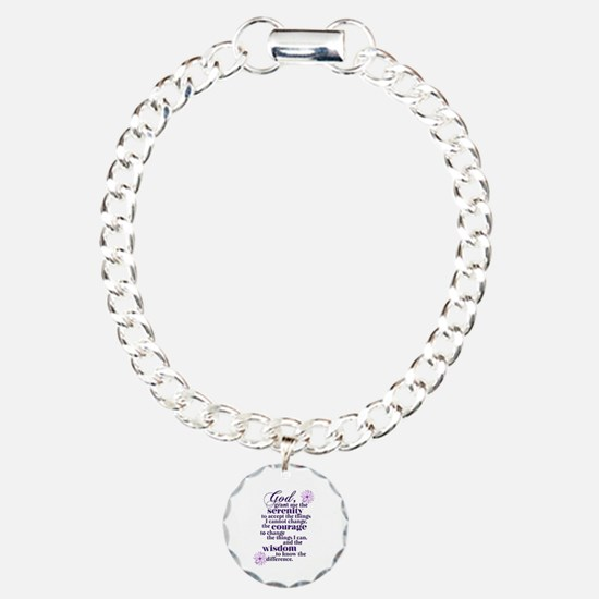 Serenity Prayer Charm Bracelet, One Charm