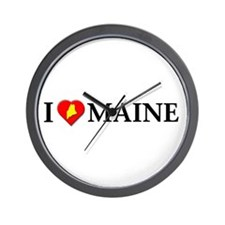 I love Maine Wall Clock