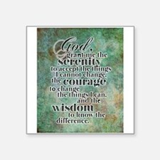 "The Serenity Prayer Square Sticker 3"" x 3"""