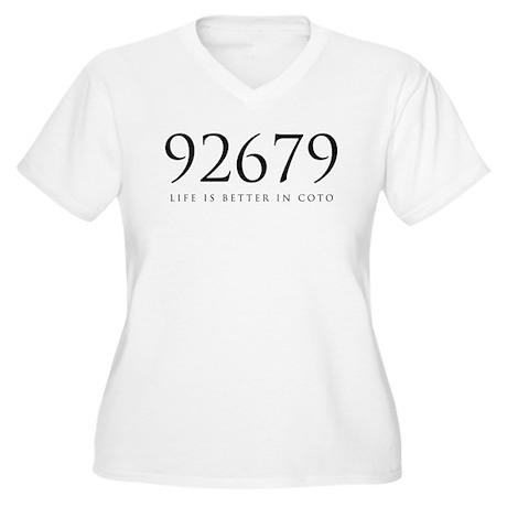 92679 Women's Plus Size V-Neck T-Shirt
