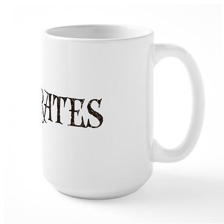 """I Luv Pirates"" Large Mug"