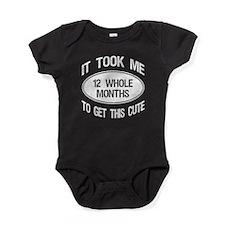 12 Month Birthday Baby Bodysuit