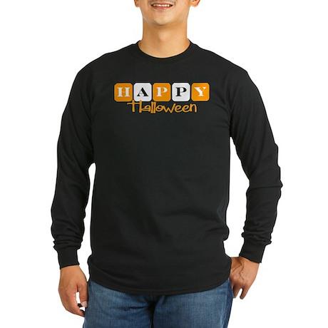 Happy Halloween (Retro) Long Sleeve Dark T-Shirt