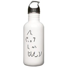 Text cat Water Bottle